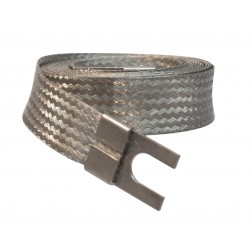 212177 Flat Grounding Strap, 10 feet,  with open end Lugs on each end.