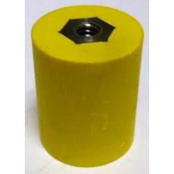 "2165-YELLOW Standoff Insulator, 1.275"" L x 1.0"" Dia., Yellow, Glastic"