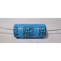220-100A Electrolytic Capacitor, 220uf 100v, Axial Lead, Xicon