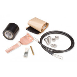 241088-5  Standard Grounding Kit for 2-1/4 in and 3 in corrugated coaxial cable and elliptical waveguide 28 and 37