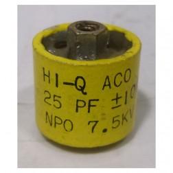 580025-7P - Doorknob Capacitor 25pf, 7.5kv (Clean Pullout)