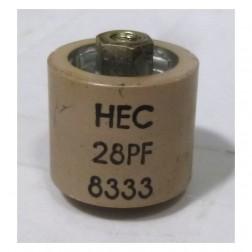 580028-5P Doorknob Capacitor,  28pf 5kv, (clean pullout)