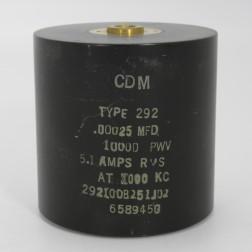 292100B251J02, Capacitance .0056mfd, Voltage 5kv, Amps 20