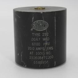 29260B472J00, 29260B472J00, Capacitance .0047mfd, Voltage 6kv, Amps 20