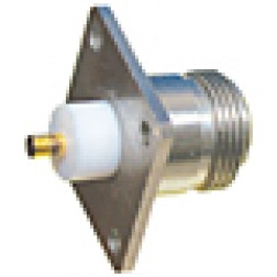 3052-1200-10 Connector, type-n(f) chasis, 4 hole w/PTFE extension, MACOM