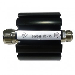 30W6  Attenuator, 30 Watt, 6dB, Type-N Male/Female