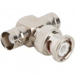 31-208 In-Series Adapter, BNC Male to Double BNC Female, Tee, Amphenol
