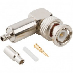31-316-RFX  BNC Male Crimp Connector, Right Angle, Cable Group B, Amphenol