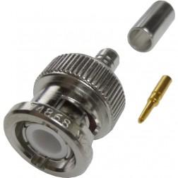 M23329/3-01 Amphenol/RF BNC Male Crimp Connector (Military Grade) (NOS)