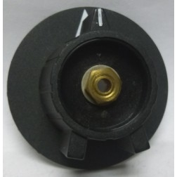 32-2912-00  Black Knob for Plate Tune & Load,  DX300 (Knob only no insert)