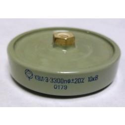 3300-10 Doorknob Capacitor, 3300pf 10kv, Radio Komponent