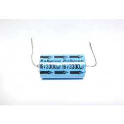 3300-16A Electroylic Capacitor, Axial Lead, 3300 uf 16v , Rubycon