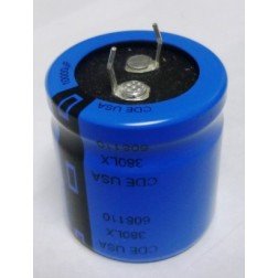 380LX10000 Capacitor, snap lock, 10,000 uf 35 wvdc CDE
