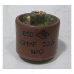 580040-5P Doorknob Capacitor, 40pf 5kv, Clean pullout