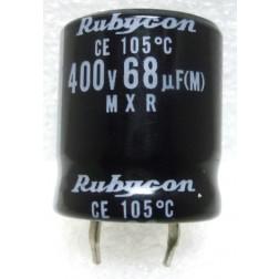 400MXR68   Snap Lock Capacitor, 68uf 400v, Rubycon