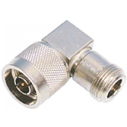 50896  Type-N IN Series Adapter, Type N Male to Type N Female, Right Angle, Square Body
