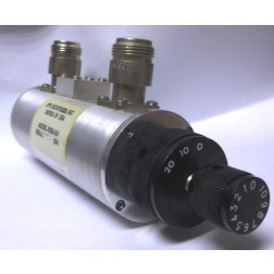 50DR-010N Attenuator, Rotary, Dual Concentric 0-30dB / 1dB steps, 2 watt, Type-N Female, JFW
