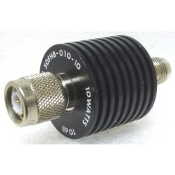 50FHB-010-10 Fixed Attenuator, 10dB 10w, TNC Male/Female, JFW (PULL)