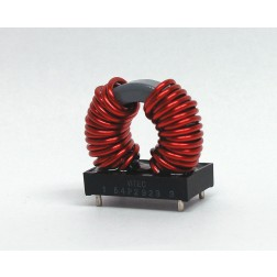 54P2923 Emi common-mode inductor, 25a, .005 ohm 3kv
