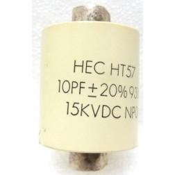 570010-15P Doorknob, 10pf 15kv 10%, Clean pullout