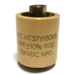 570018-15P  Doorknob Capacitor, 18pf 15kv,  High Energy (Clean Pullout)