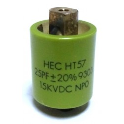 570025-15P-20 Doorknob Capacitor, 25pf 15kv (Clean Used) 20%,  High Energy
