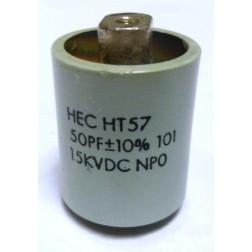 570050-15P Doorknob Capacitor, 50pf 15kv, Various  (Clean Pullout)