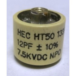 580012-7 Doorknob Capacitor,12pf 7.5kv,HT50V120KA, High Energy