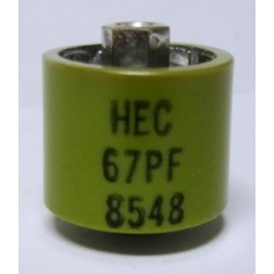 580067-4 Doorknob Capacitor, 67pf 4kv,  High Energy