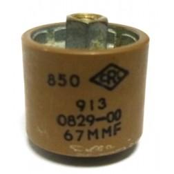 580067-5P Doorknob Capacitor, 67pf 5kv (Clean Pullout)
