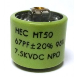 580067-7 Doorknob Capacitor, 67pf 7.5kv  High Energy