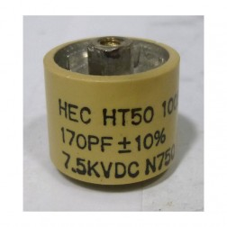 580170-7 Doorknob Capacitor, 170pf 7.5kv
