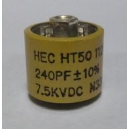 580240-7 Doorknob Capacitor, 240pf 7.5kv