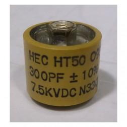 580300-7 Doorknob Capacitor, 300pf 7.5kv 10%