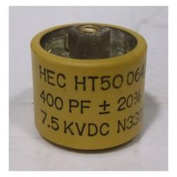 580400-7 Doorknob Capacitor, 400pf 7.5kv 10%
