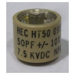 HT50V500KA  High Energy Corporation Ceramic Doorknob Capacitor 50pf 7.5kv 10%