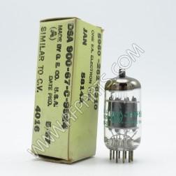 5814A JAN/General Electric Medium-Mu Double Triode Tube (NOS/NIB)