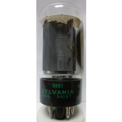 5881-SYL Tube,  Beam Power Amplifier, 6L6WGB / 5881, Sylvania-JAN