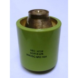 590060-30  Doorknob Capacitor, 60pf 30kv, High Energy (Clean Used) HEC