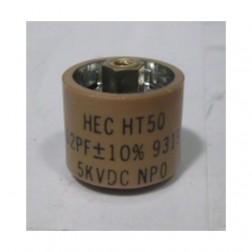 580062-5 Doorknob Capacitor, 62pf 5kv, (NOS) (HT50V620KA)
