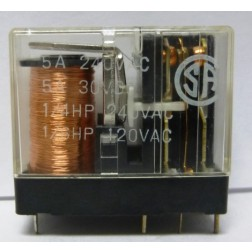 621D012; Relay, DPDT, 12v, 5a