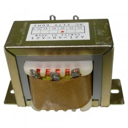 671243  Low voltage transformer, 117VAC 60cps 24vct, 1.5 amp, (67-1243) CES