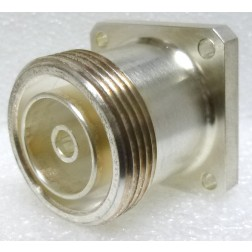 716-203  7/16 DIN Female Chassis Connector, 4 Hole Flange w/Teflon Ext,  Amphenol