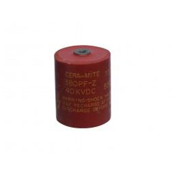 720C381Z40DK Doorknob Capacitor, 380pf 40kvdc, Cera-Mite