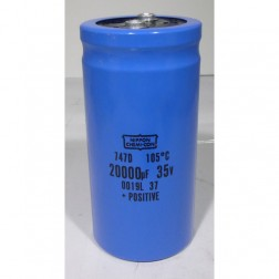 747D  Electrolytic Capacitor, 20000uf 35v, Computer Grade, 105 c, Nippon Chemicon
