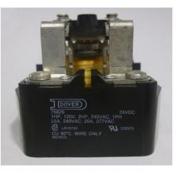 LR15734  Open Frame Relay, DPDT,  24vdc 25a, Dover