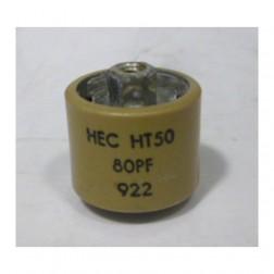 580080-5P Capacitor, Doorknob, 80pf 5kv (Clean pullout)