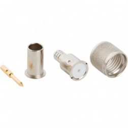 81-115N-1000 Mini-UHF Male Crimp Connector, Cable Group C, Amphenol