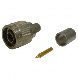 82-4426-1001 Type-N Male Crimp Connector, Straight, Knurled Nut, (Industrial Version) Cable Group: E, APL