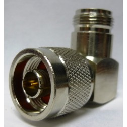 82-64-RFX IN Series Adapter, Type N Male to Female Right Angle, Amphenol